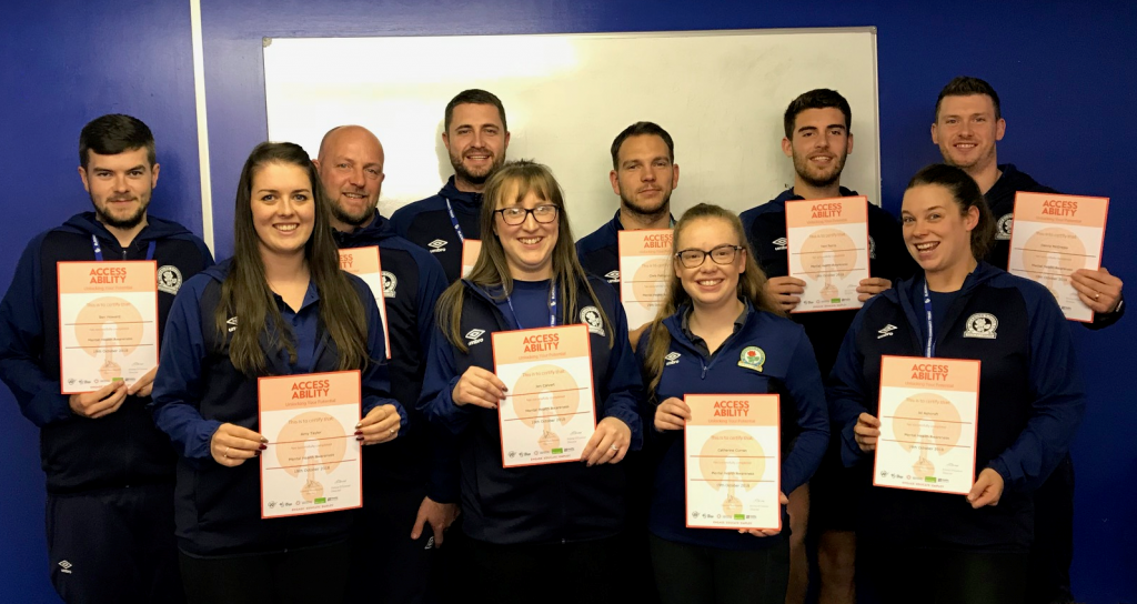 Blackburn rovers Staff Mental Health Awareness Certs