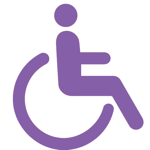 Purple disability icon